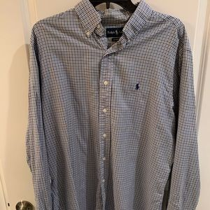 Ralph Lauren Blue Striped Button-Down
